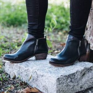 Lucky Brand Black Leather Basel Bootie